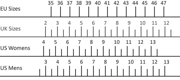 Adults Size Conversion Chart