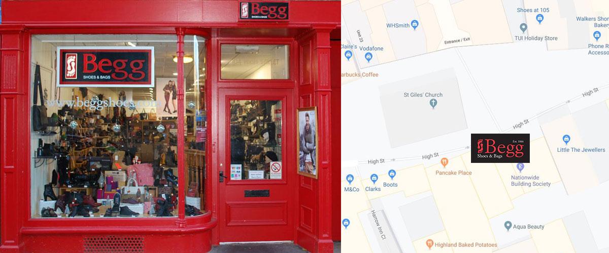 Elgin Shoe Shop Location