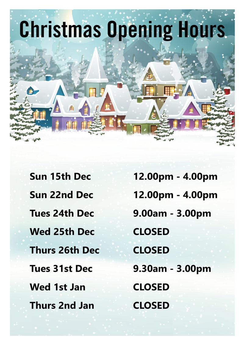 Elgin Christmas Hours
