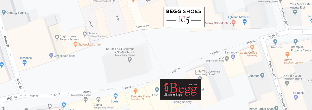 Elgin Shoe Shops Location