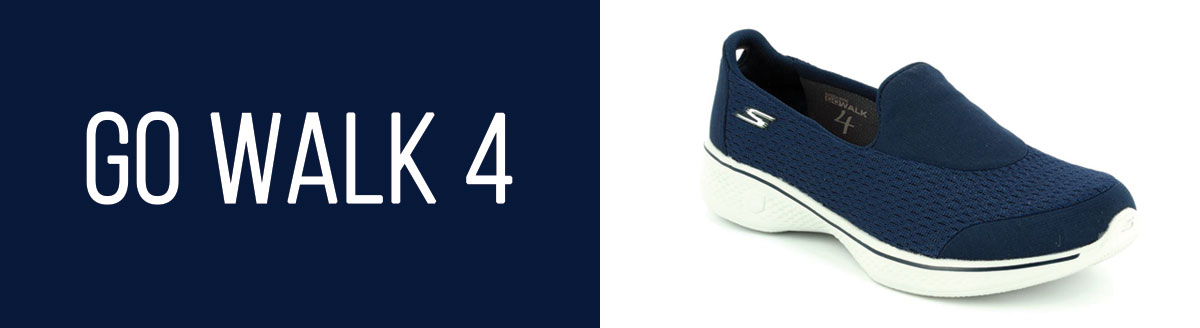 Skechers Go Walk 4 Navy Womens