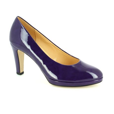 Purple patent heels