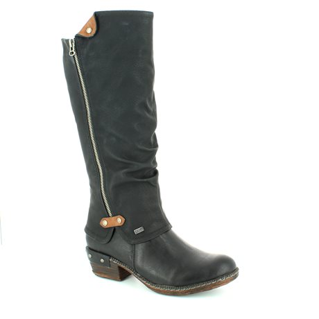 black long boot