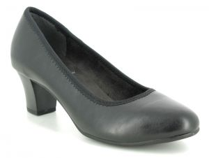 Jana Black Court Shoes