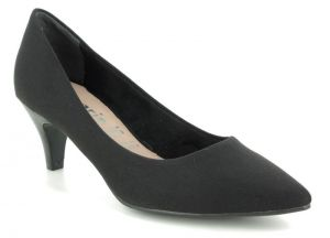 Tamaris Fatsa Black Court Shoes