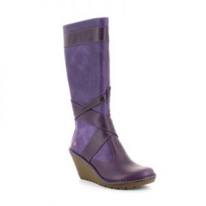 Art Pruple Boots