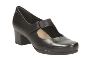Clarks Work Shoes Black