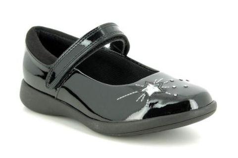 Girls T-Bar School Shoes Girls School Shoes Girls Shoes Easy Clean Black Size