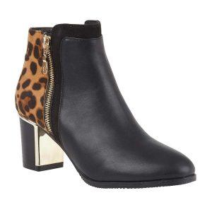 Lotus Greeve Leopard Print Boots