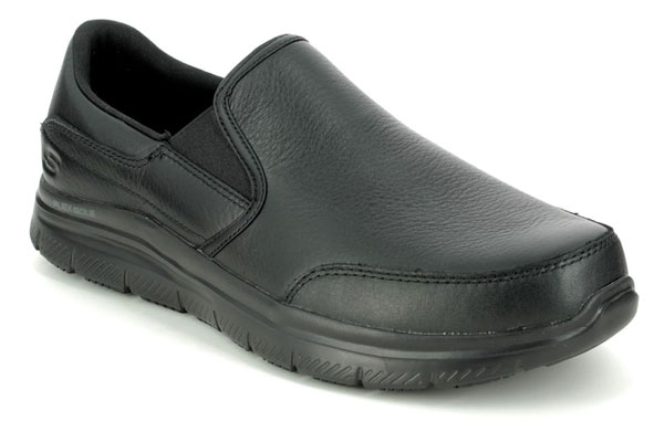 Skechers Safety Work Leather Slip on Shoes