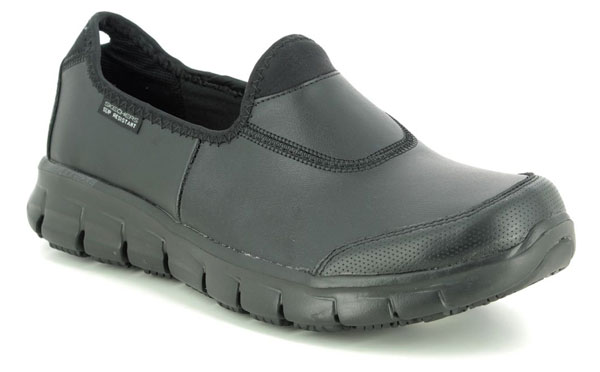 Skechers Safety Work Sure Track Slip Resistant Womens Trainers
