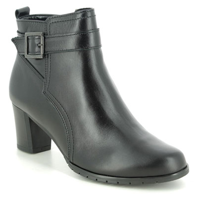 Alpina Sindi G Buck Black Leather Heeled Boots