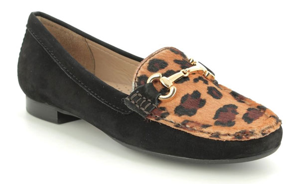 Black Leopard Print Loafers