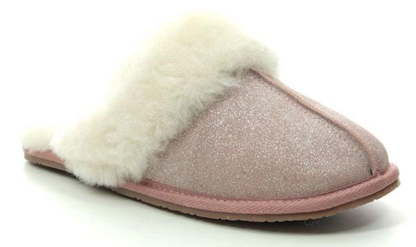 Clarks Warm Glitz Sheepskin Slippers