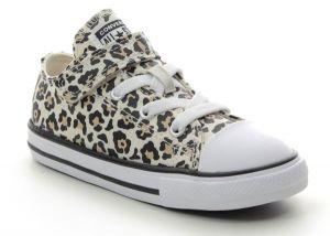 Girls Leopard Print Converse