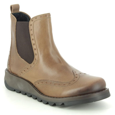 Fly London Sono Camel Leather Chelsea Boots