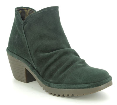 FLy London Wezo Green Suede Ankle Boots