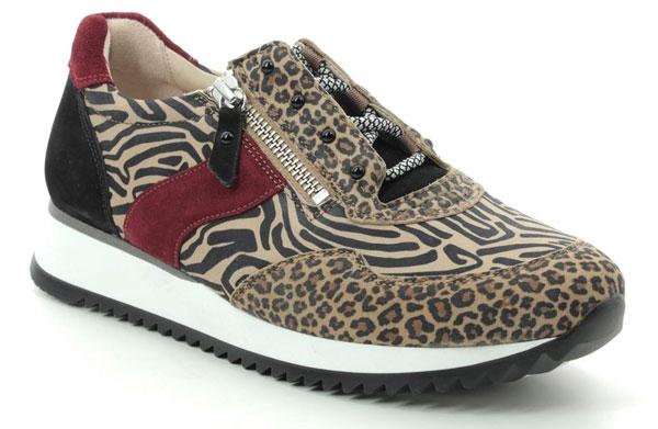 Gabor Leopard Print Trainers