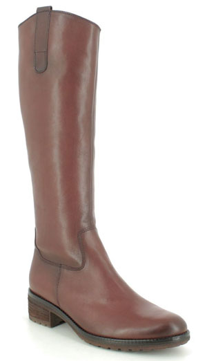 Gabor Shields Palmer Slim Tan Leather Knee High Boots