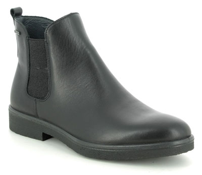 Legero Soana Gore Tex Black Leather Waterproof Chelsea Boots