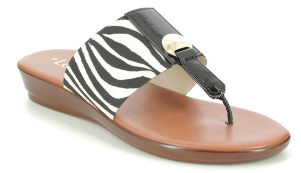 Lotus Arna Zebra Print Sandals