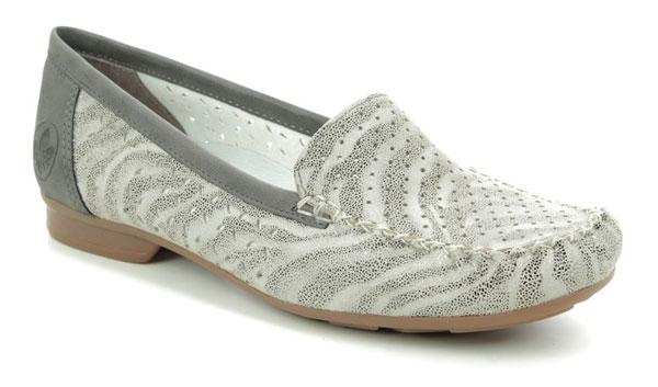 Rieker Zebra Print Loafers