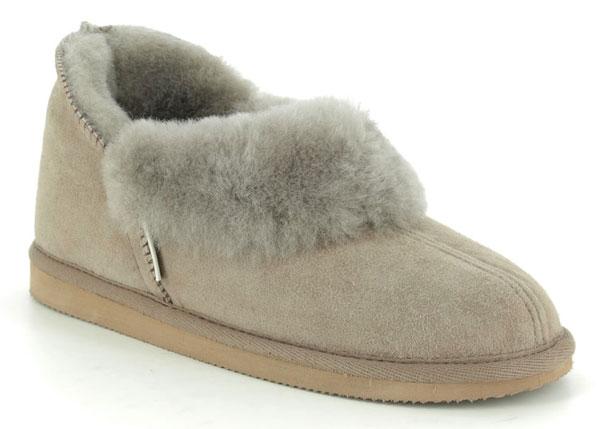 Shepherd of Sweden Karin Grey Suede Slippers