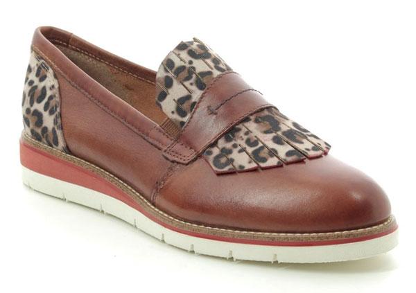 Tamaris Leopard Print Loafers