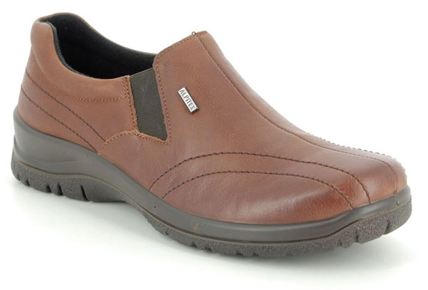 Tan Slip on Shoes for Back Pain