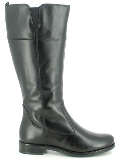 Tamaris Cari Black Leather Knee High Boots