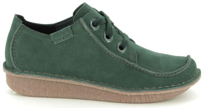 Clarks Funny Dream Green Suede