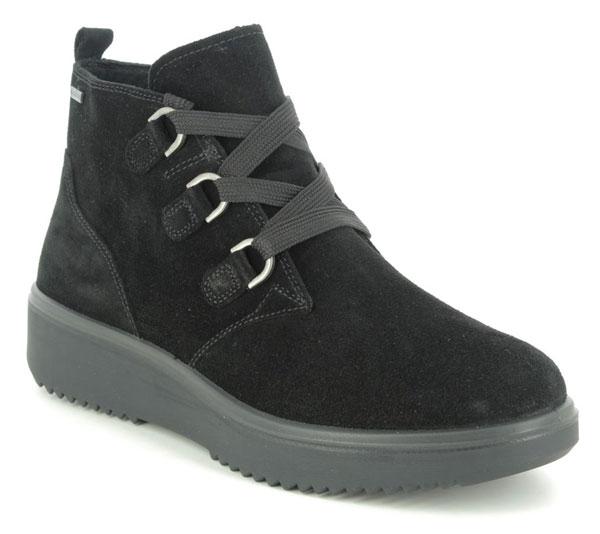 Legero Camino Lace GTX Black Waterproof boots