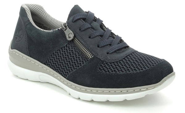 Rieker L3230-14 Navy Trainers for Plantar Fasciitis