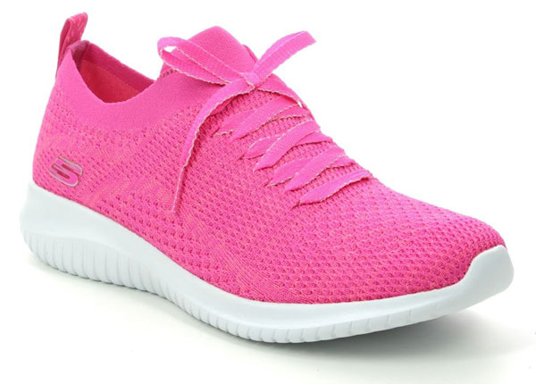 Skechers Ultra Flex Hot Pink Sneakers