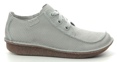Clarks Funny Dream Light Grey Nubuck Pasty Shoes