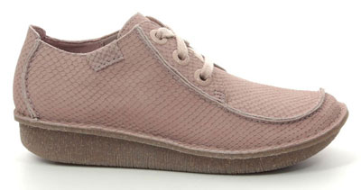 Clarks Funny Dream Pink Nubuck Lacing Shoes