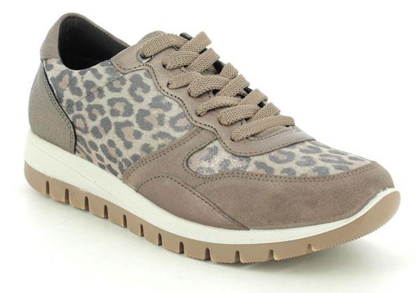 IMAC Leopard Print Lacing Shoes for Fallen Arches