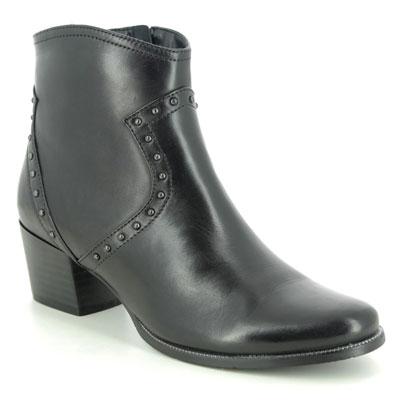 Regarde le Ciel Isabel 83 Black Leather Ankle Boots