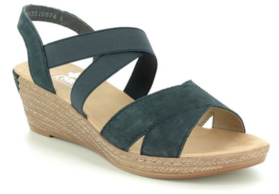 Rieker 62412-15 Navy Wedge Espadrilles