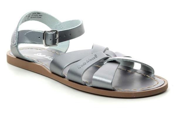 Salt Water Sandals Silver Flat Sandals Waterproof