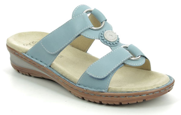 Ara Hawaii Koredis Pale Blue Comfy Sandals