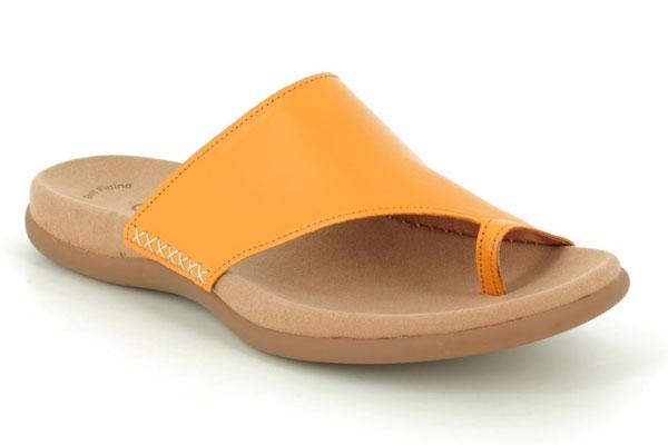 Gabor Lanzarote Yellow Toe Post Sandals