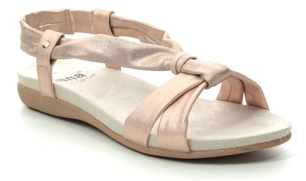 Jana Manila Rose Gold Wide Fit Comfortable Sandals