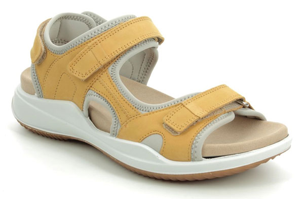 Romika Sumatra Yellow Walking Sandals
