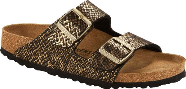 Birkenstock Arizona Ladies Metallic Slide Sandals