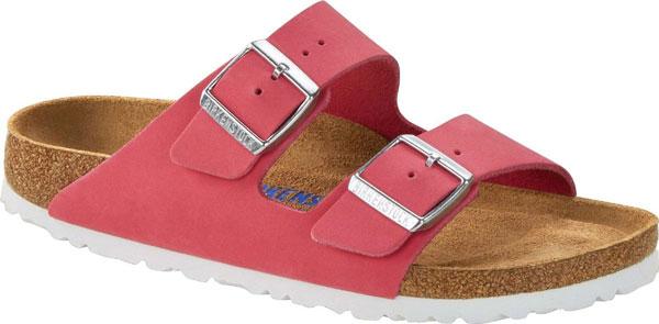 Birkenstock Arizona SFB Fuchsia Pink Slide Sandals