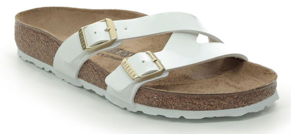 Birkenstock Yao White Slide Sandals for Pregnancy