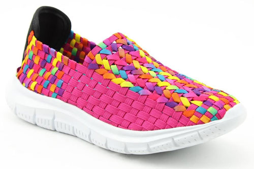 Heavenly Feet Cosmos 2 Pink Slip on Trainers
