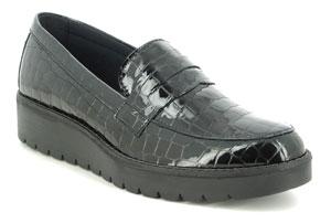 IMAC Britney Mocc G Black Croc Loafers