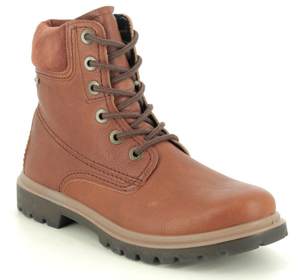 Legero Monta Lace GTX Tan Leather Lace Up Boots